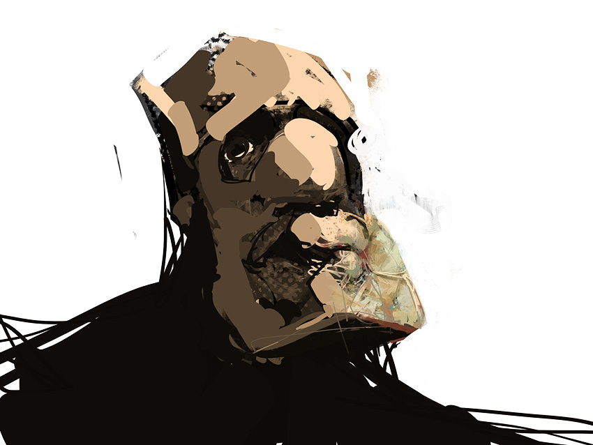 leander tomek szkodziński sketch speed painting wacom