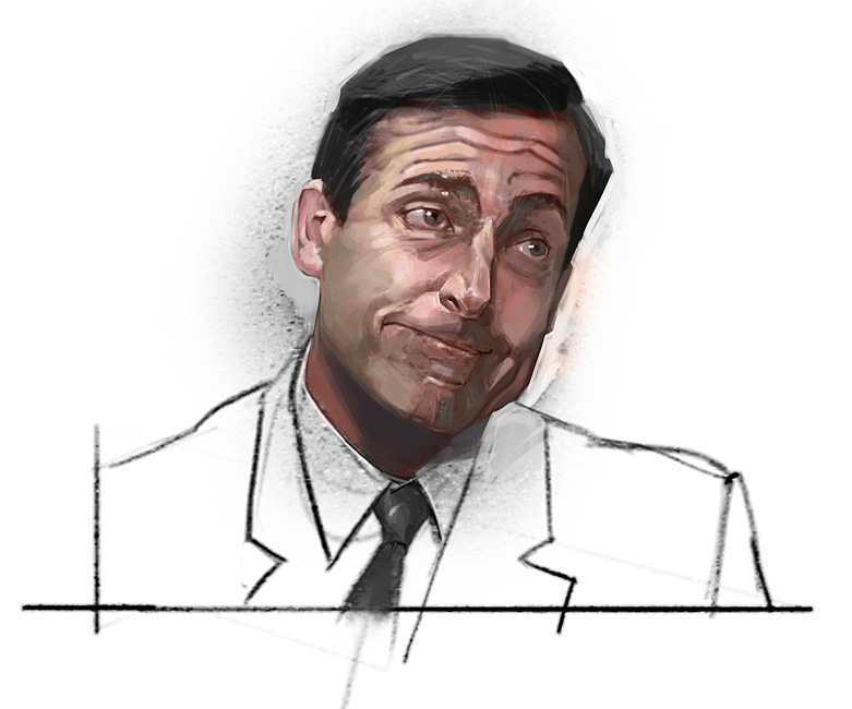 the office Steve Carell szkodziński sketch speedpainting
