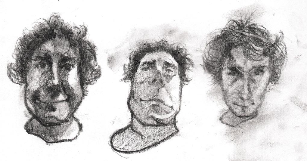 Tomek Szkodzinski rysunek autoportret sketch