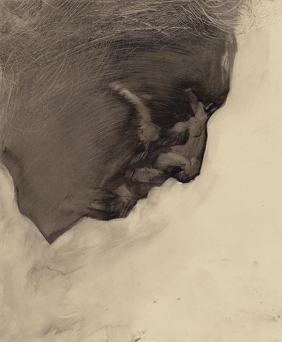 Szkodzinski drawing rysunek olej