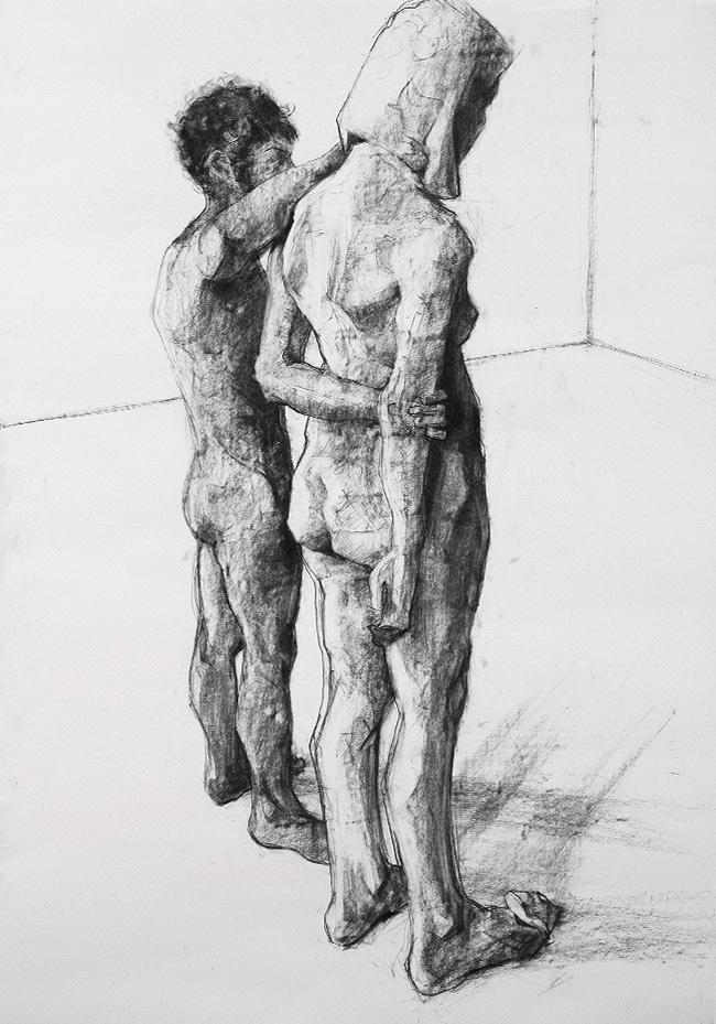 charcoal drawing Tomasz Szkodzinski rysunek
