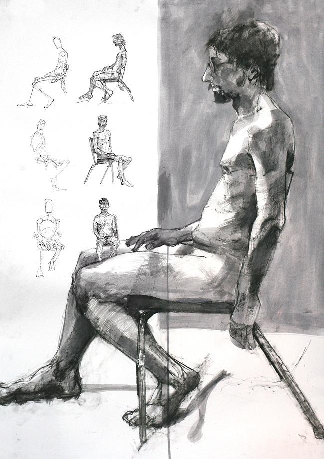 Tomek Szkodzinski drawing rysunek ink tusz ekolina szkic