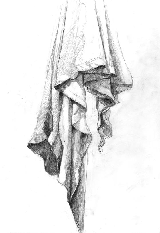 Tomek Szkodzinski rysunek drapery sketch